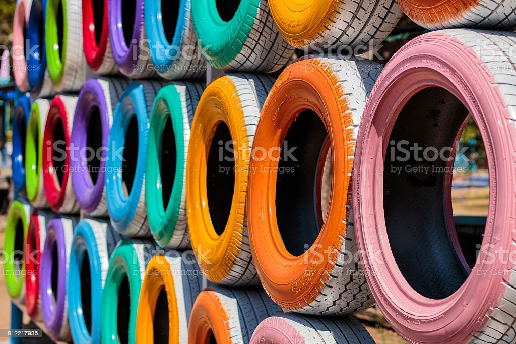 tire playground stock photo