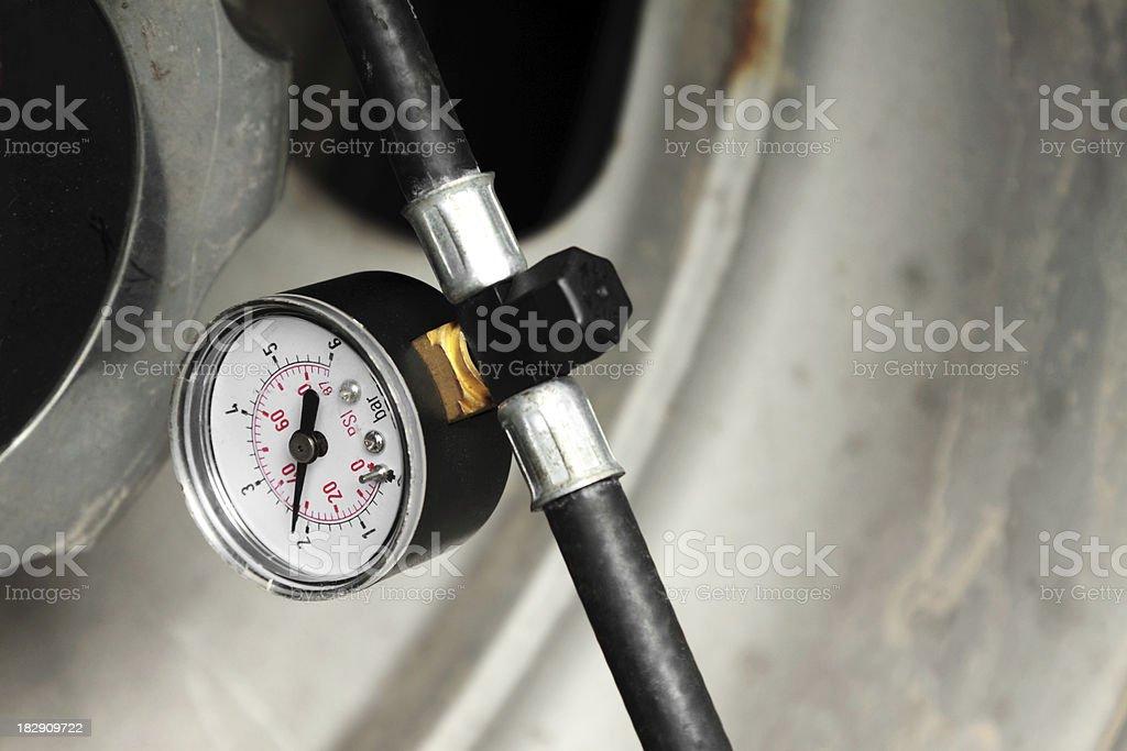 Tire Pressure Manometer stock photo