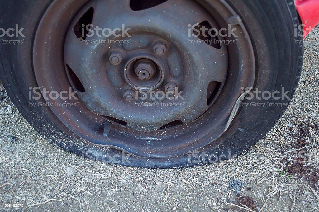tire pricking stock photo