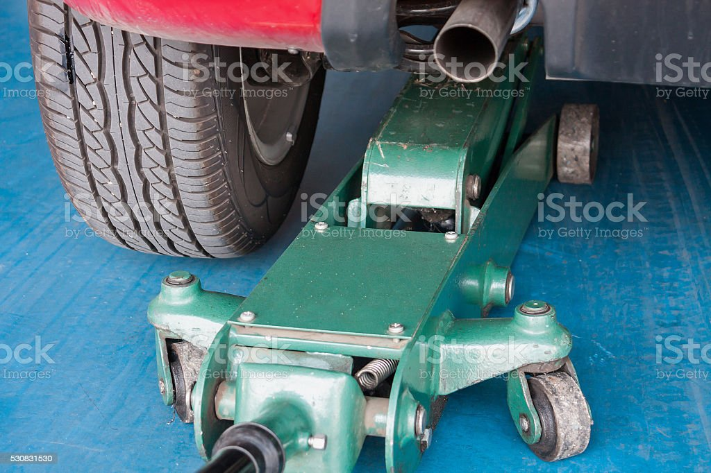 Tire replacement service stock photo