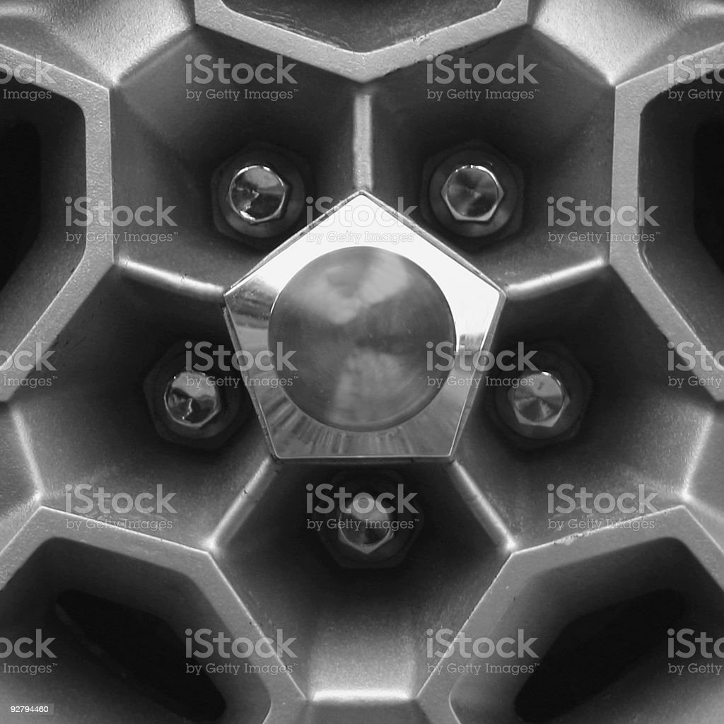 Tire rim of a muscle car stock photo
