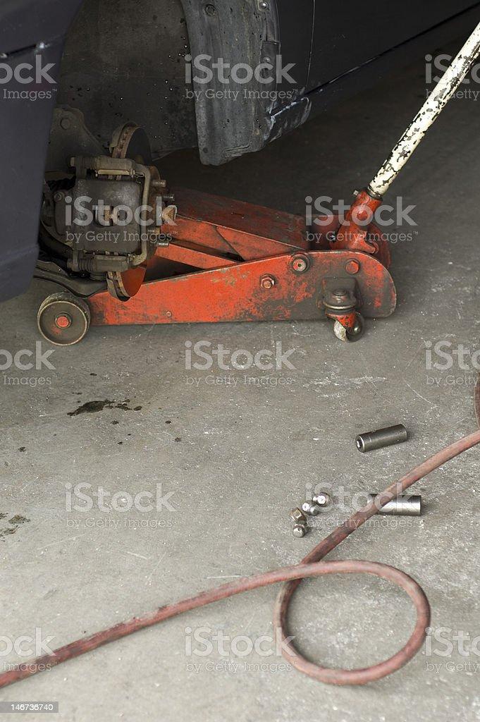 Tire shop car royalty-free stock photo