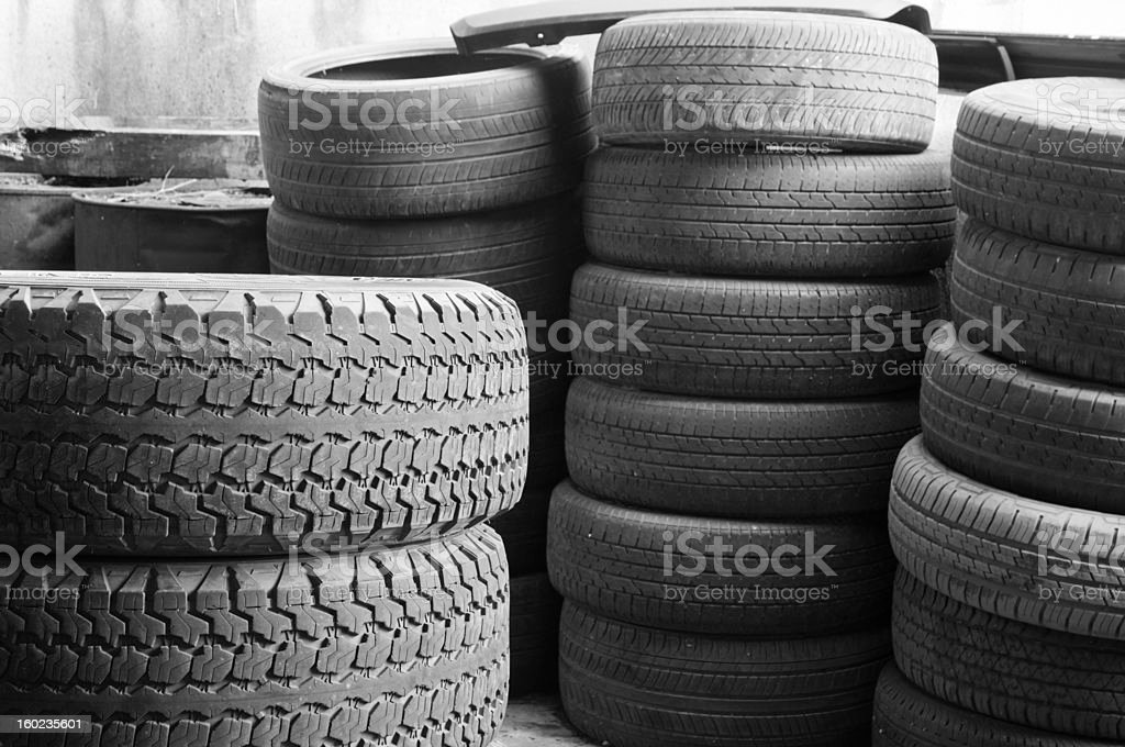 Tire stack background royalty-free stock photo