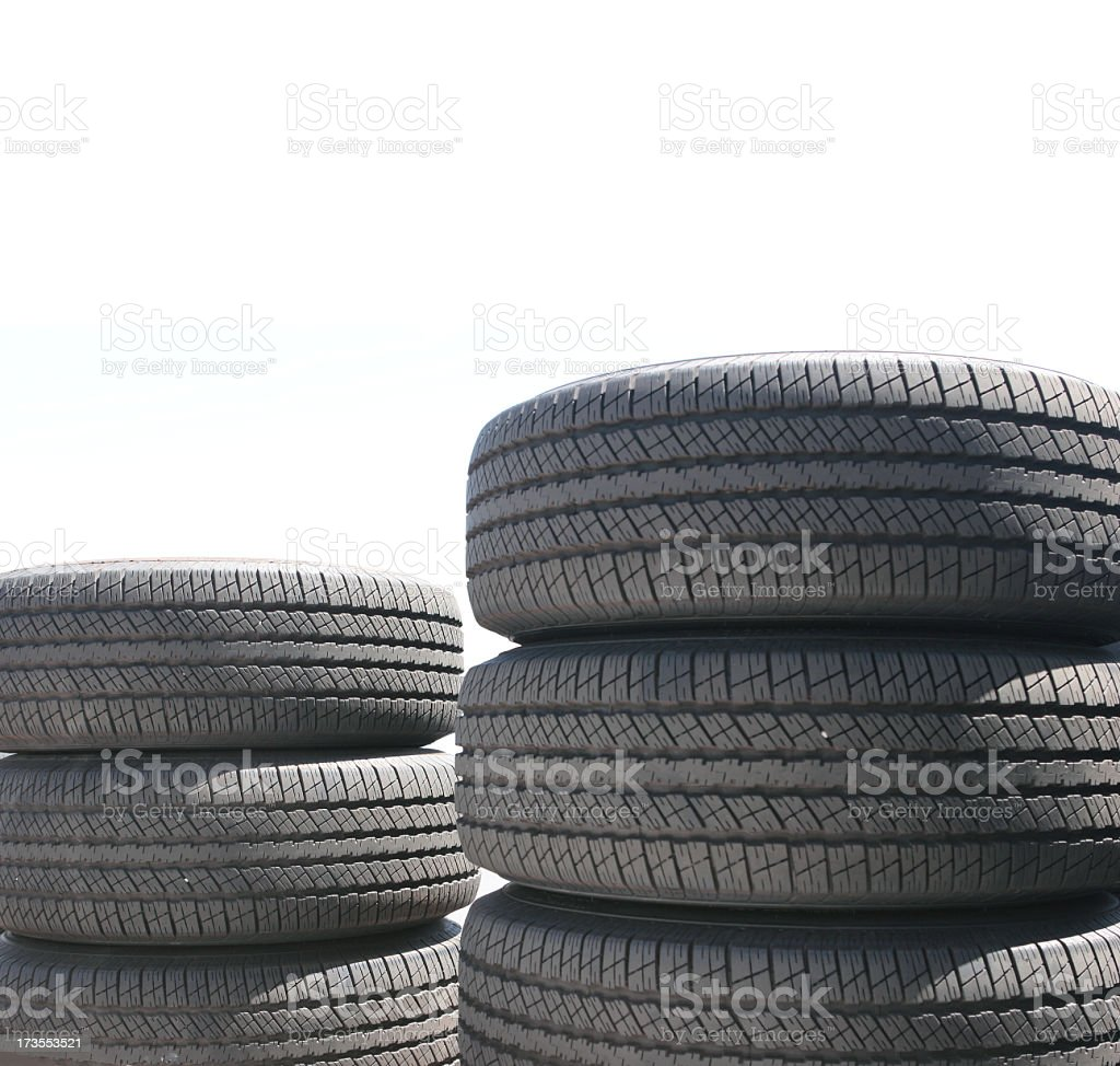 Tire Stacks (isolated) stock photo