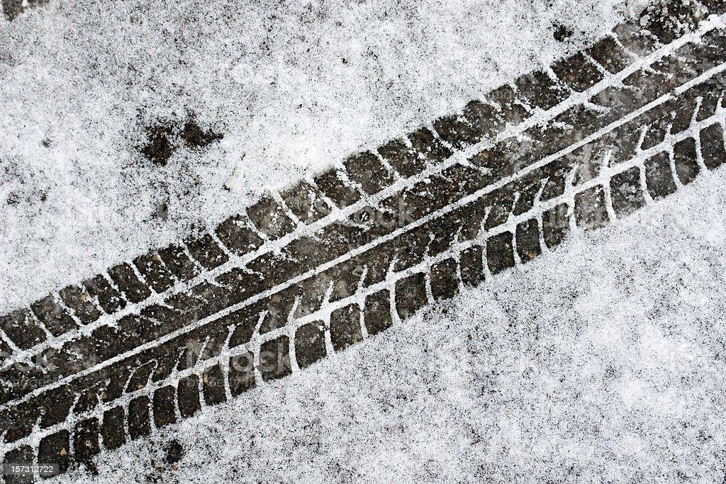 Tire track stock photo