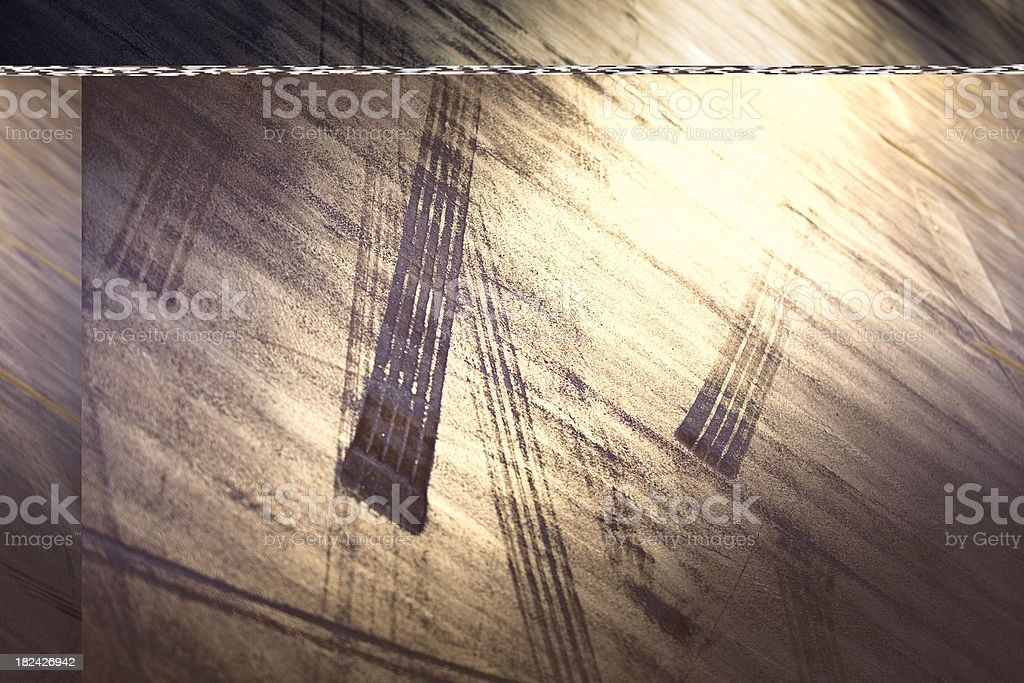 Tire Tracks Abstract royalty-free stock photo