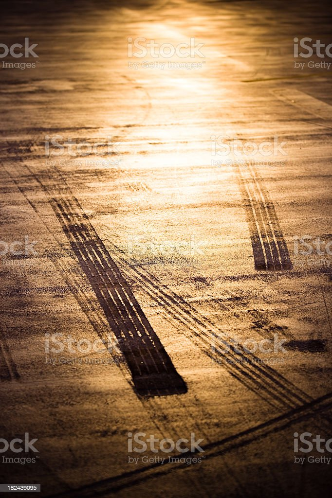 Tire Tracks Abstract Texture royalty-free stock photo