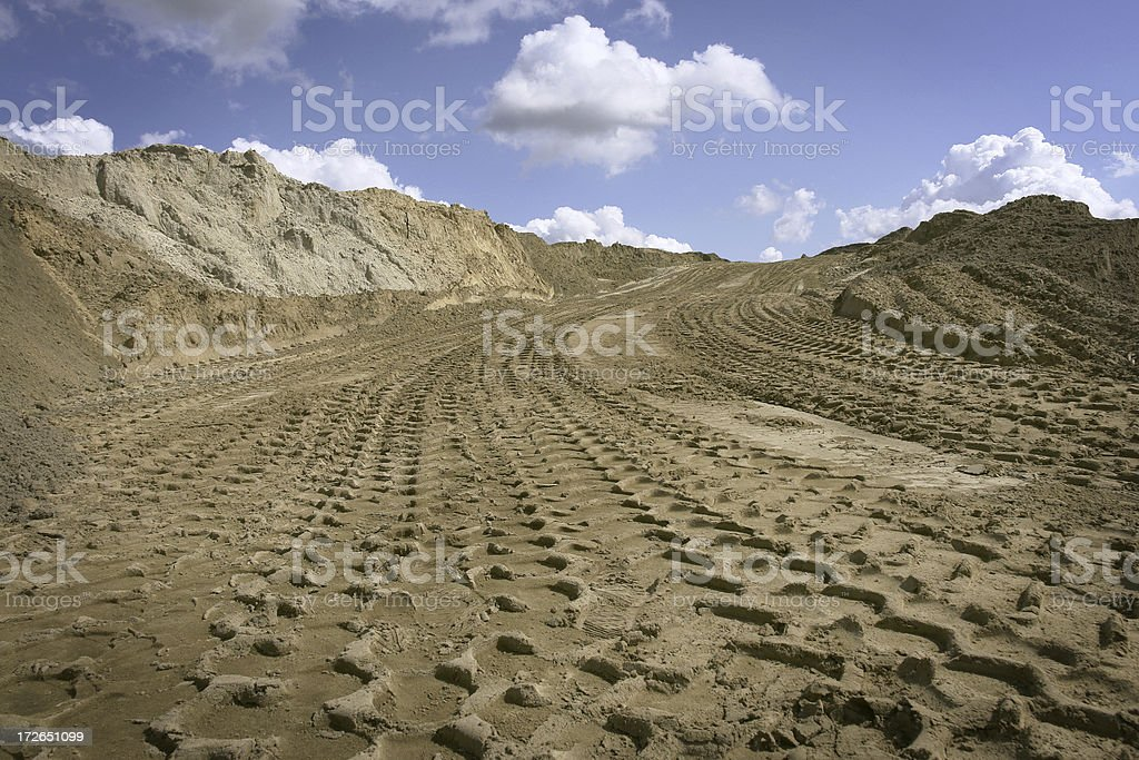 Tire Tracks Leading in the Sky royalty-free stock photo