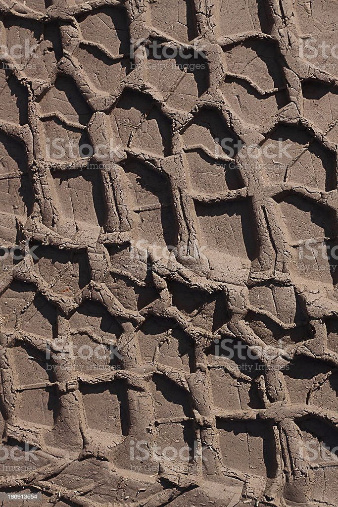 Tire tracks royalty-free stock photo