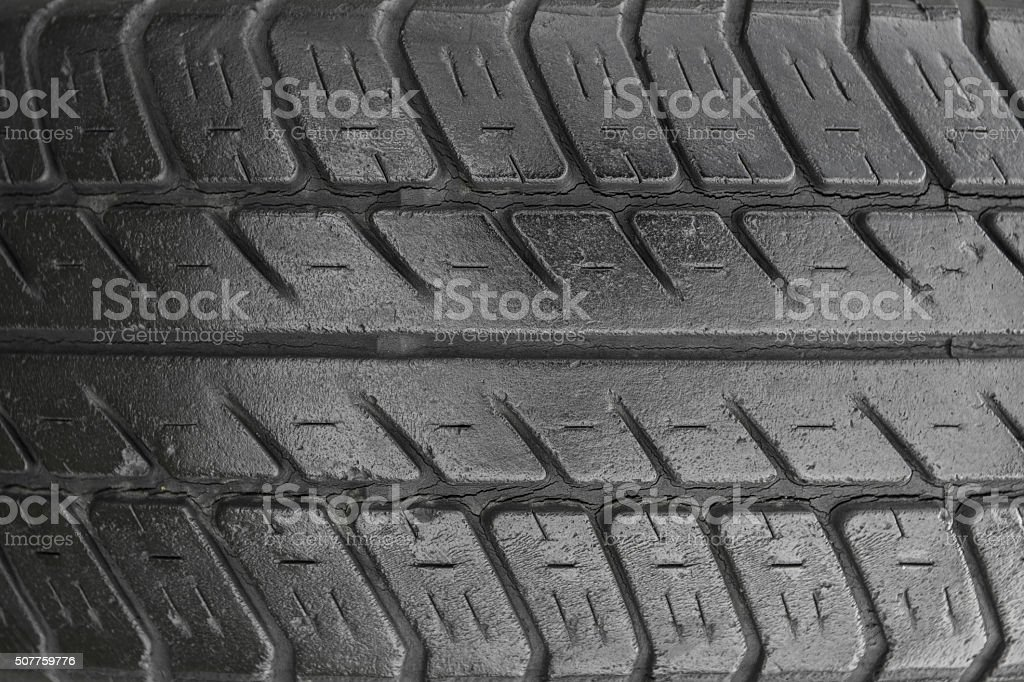 Tire tread, closeup view stock photo
