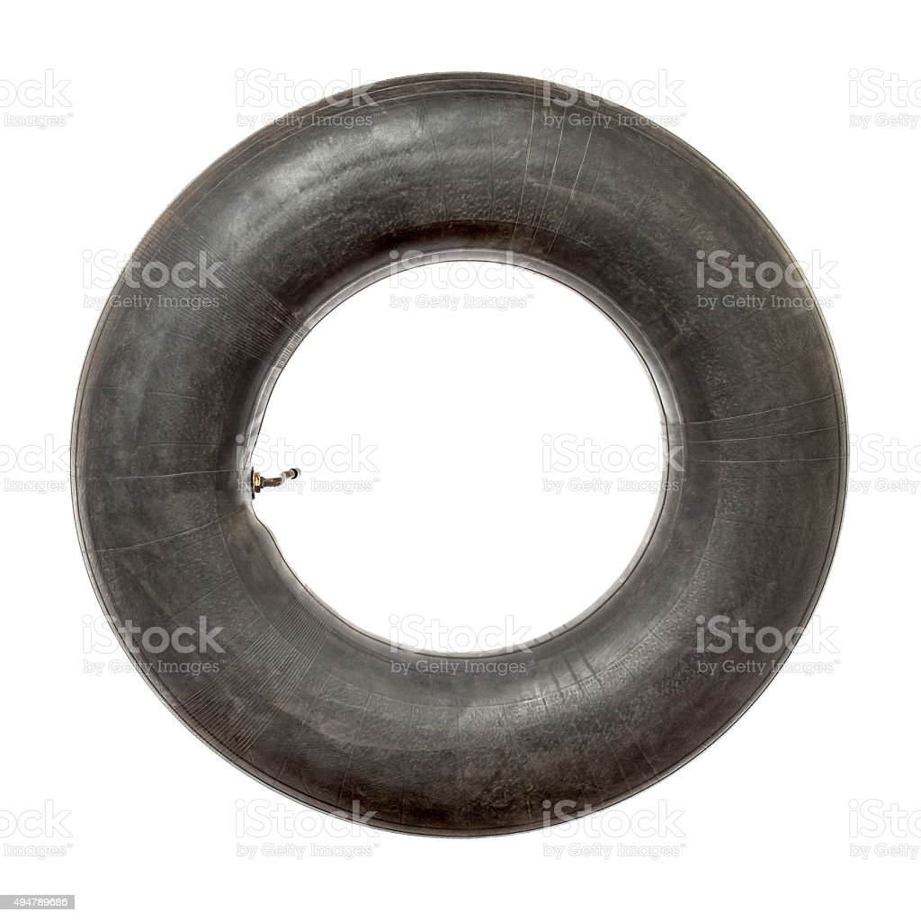Tire tube on white background stock photo