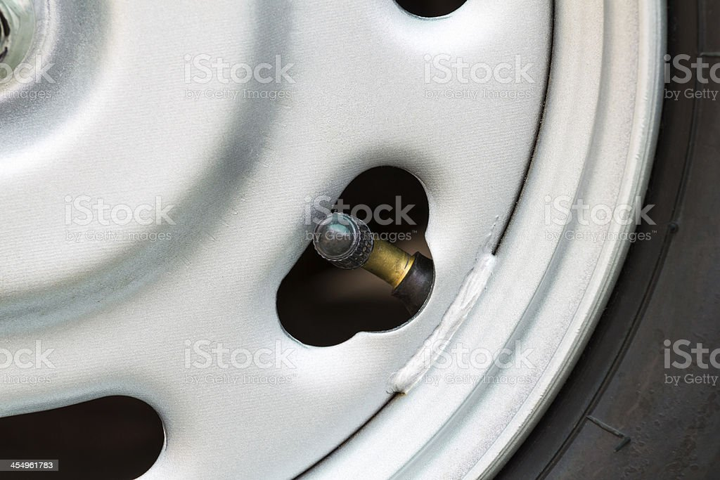 Tire valve royalty-free stock photo