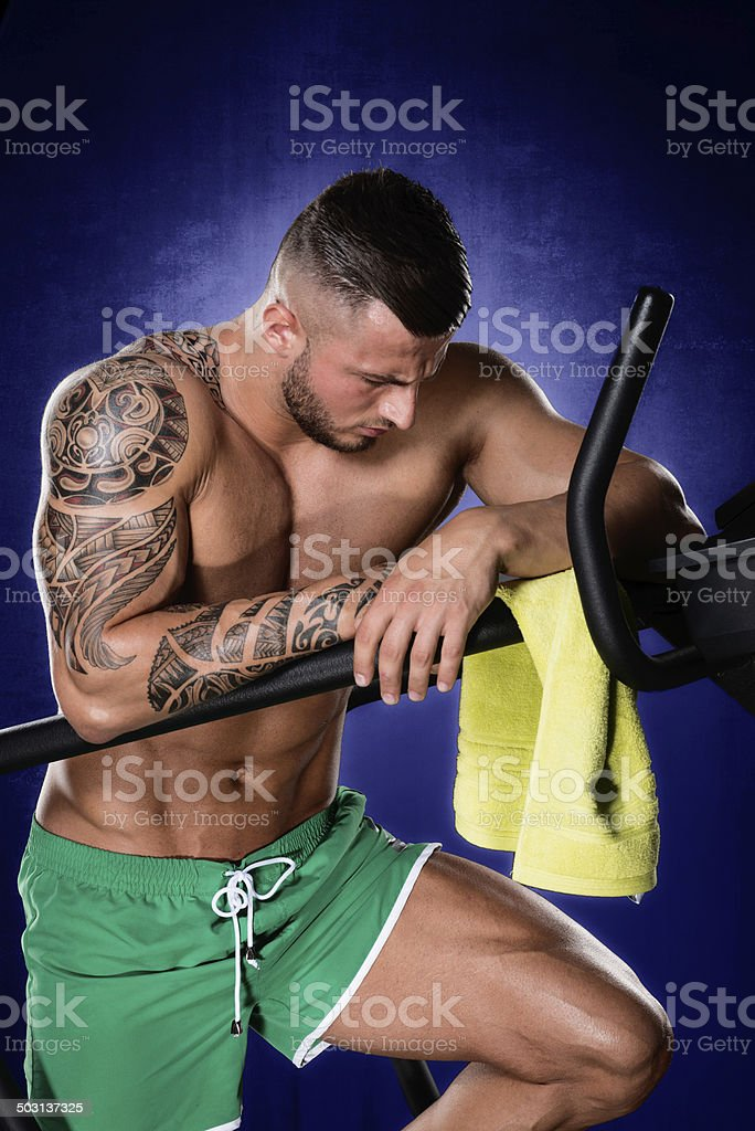 Tired after exercise royalty-free stock photo