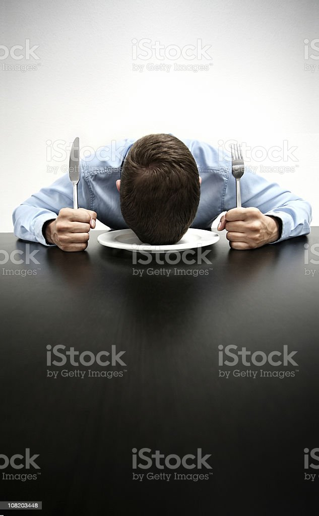 tired and hungry royalty-free stock photo