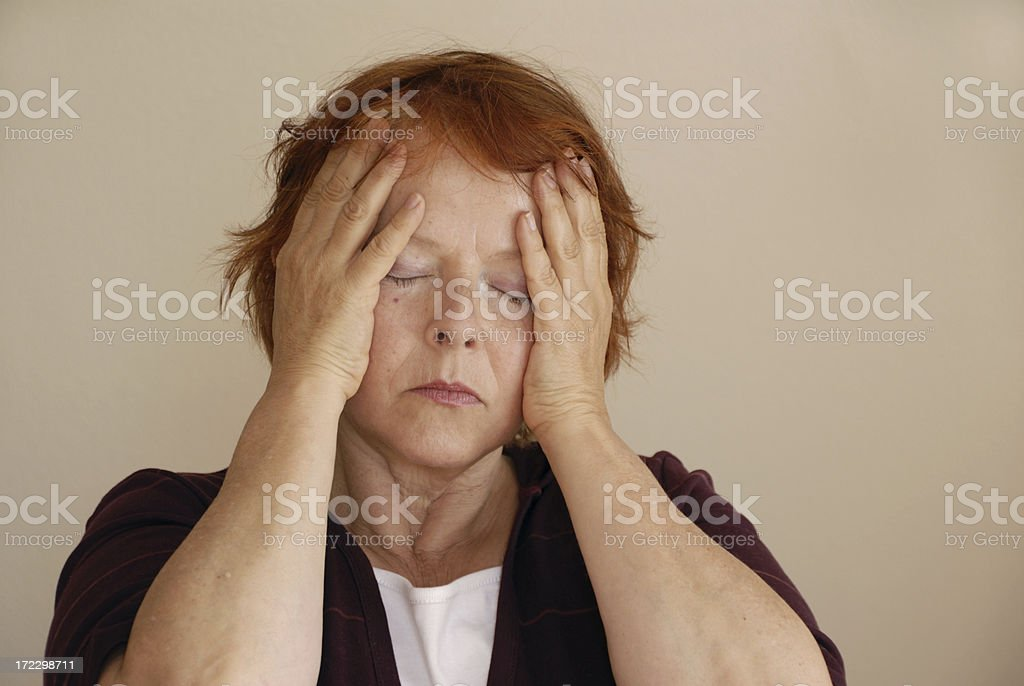 tired and sad royalty-free stock photo
