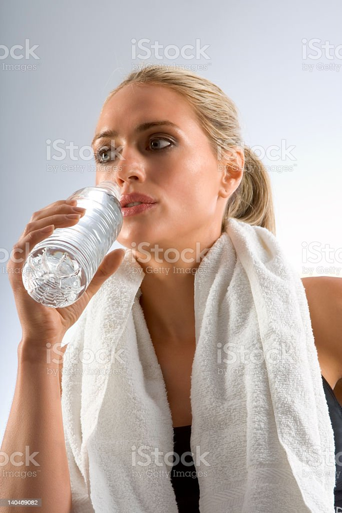 Tired and thirsty royalty-free stock photo