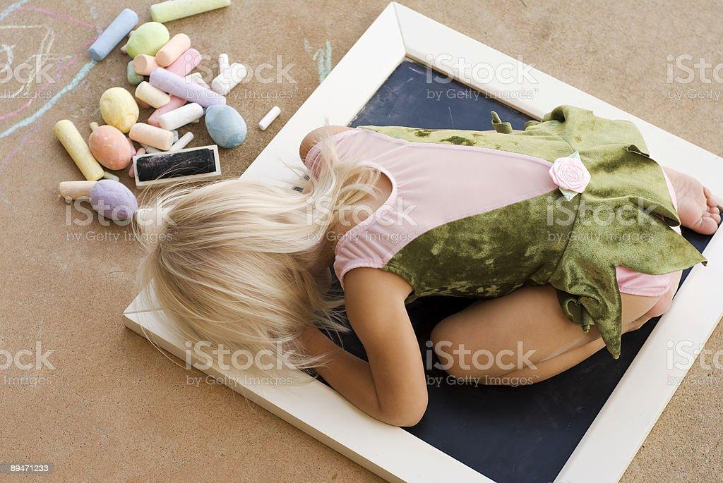 Müde Künstler Lizenzfreies stock-foto