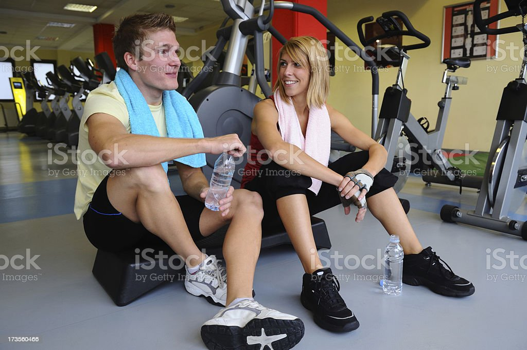 Tired athletes royalty-free stock photo