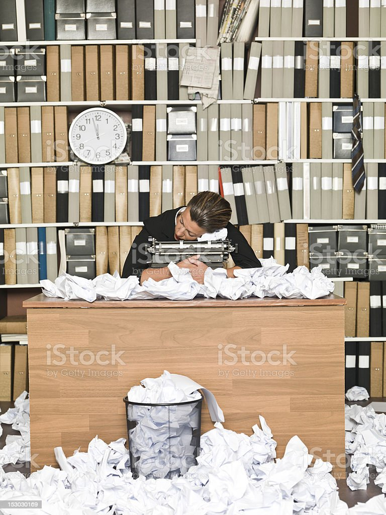Tired Author royalty-free stock photo