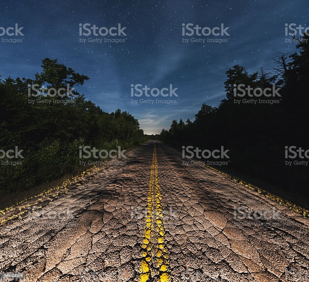 Tired Backroad stock photo