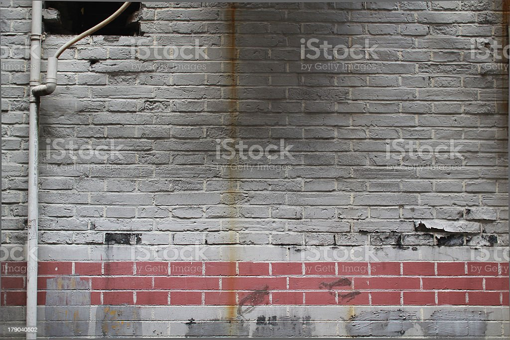 Tired Brick Wall royalty-free stock photo
