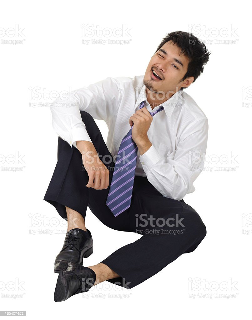 Tired business man royalty-free stock photo