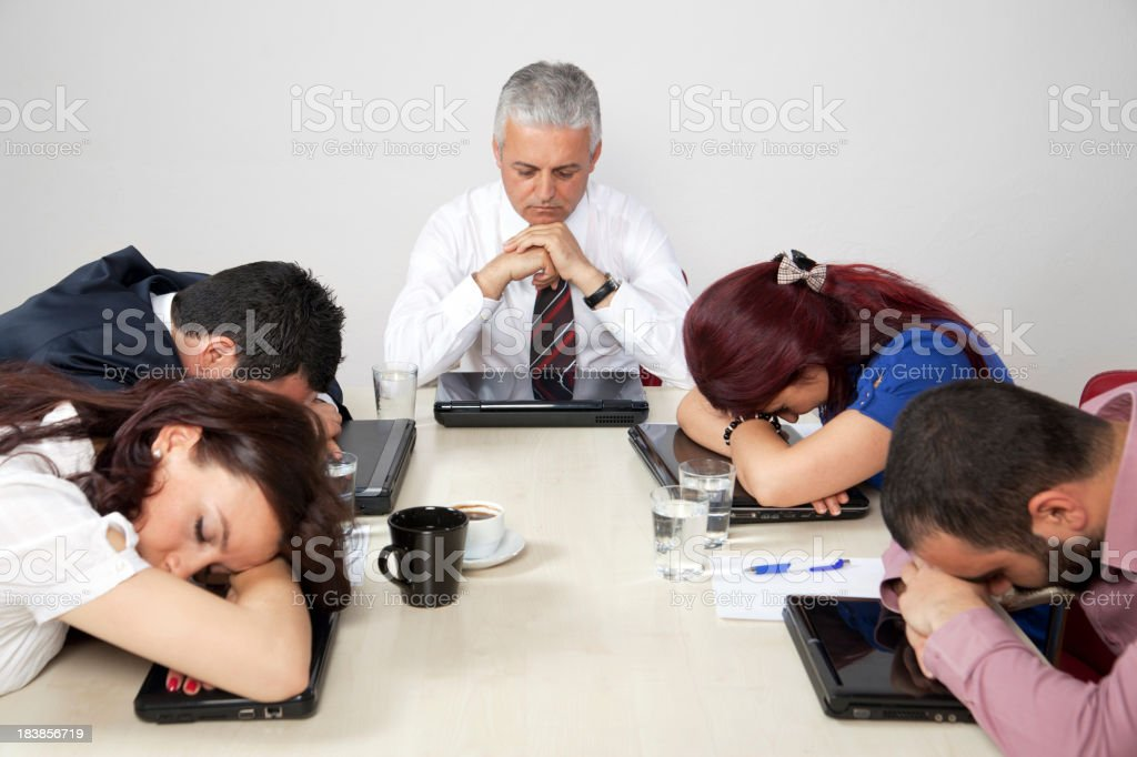 Tired business team royalty-free stock photo