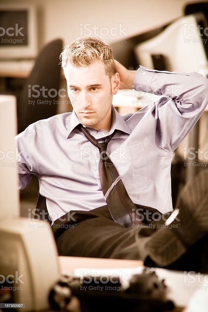 Tired businessman royalty-free stock photo