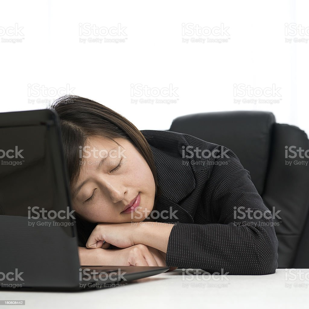 tired businesswoman royalty-free stock photo