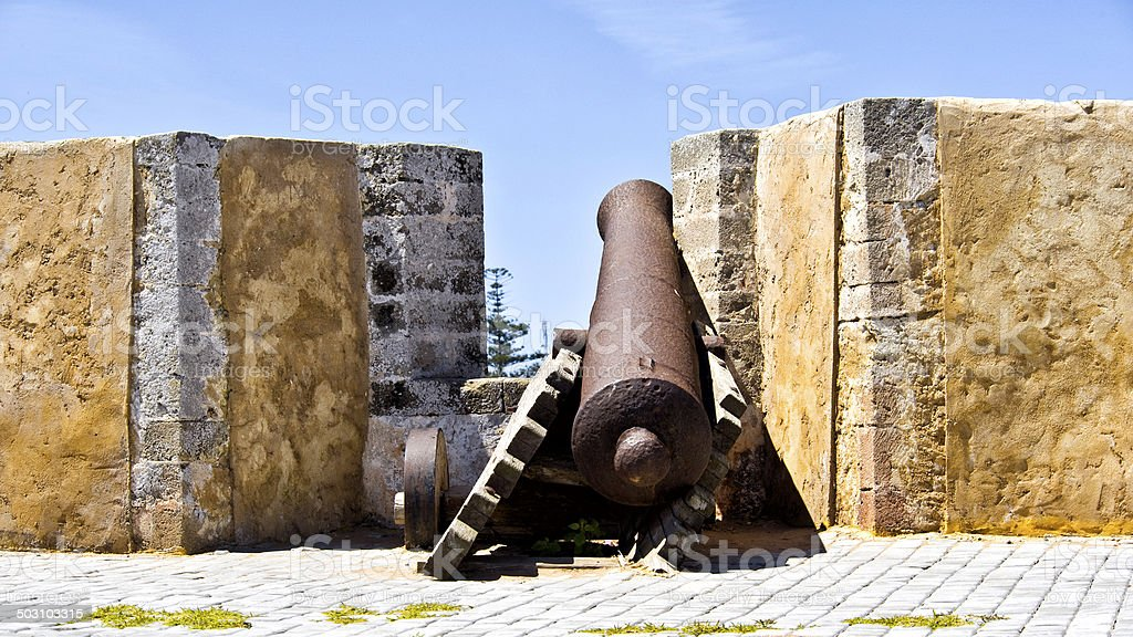 Tired Cannon, Morocco stock photo