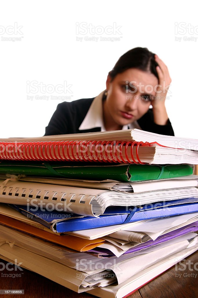 Tired clerk royalty-free stock photo