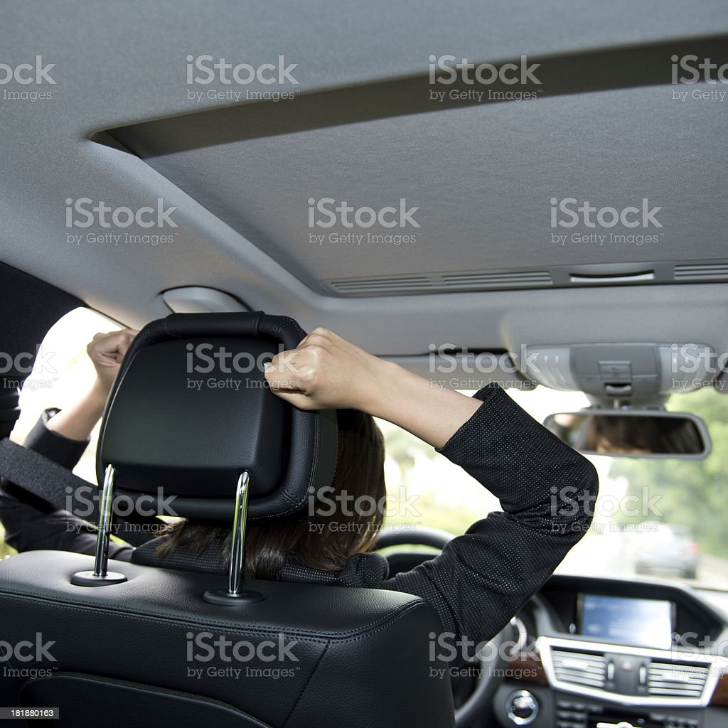 tired driver royalty-free stock photo