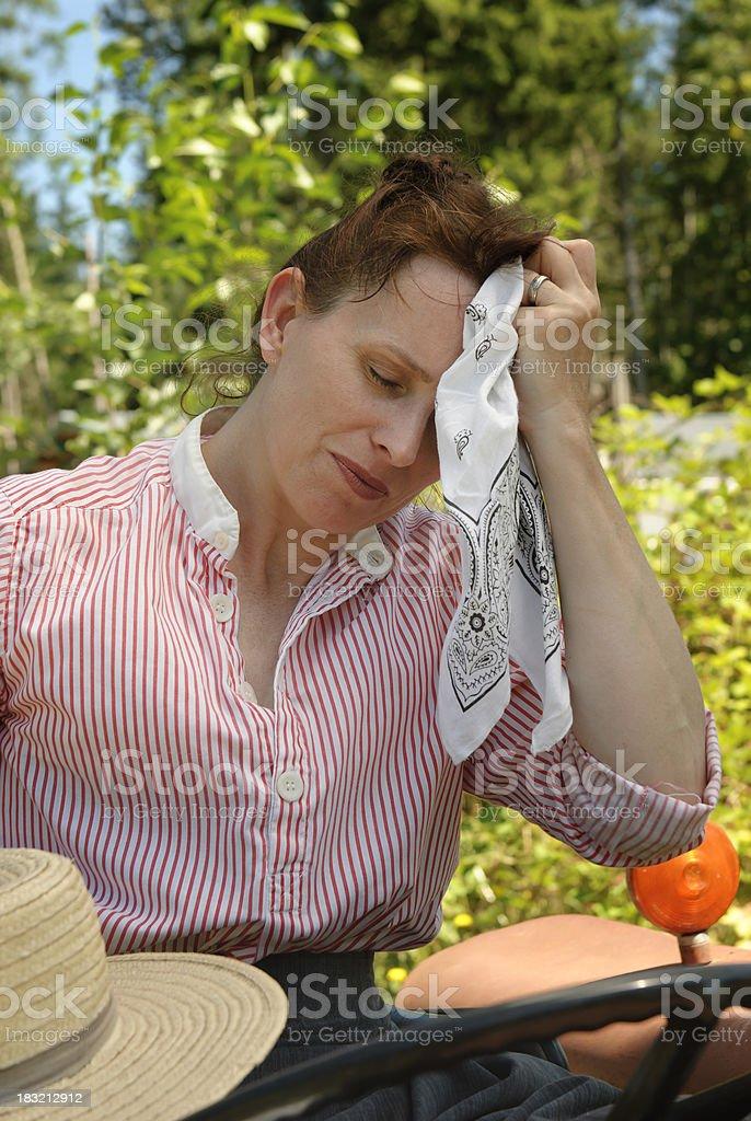 Tired Farmer stock photo