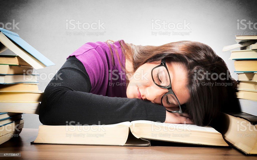 Tired female royalty-free stock photo