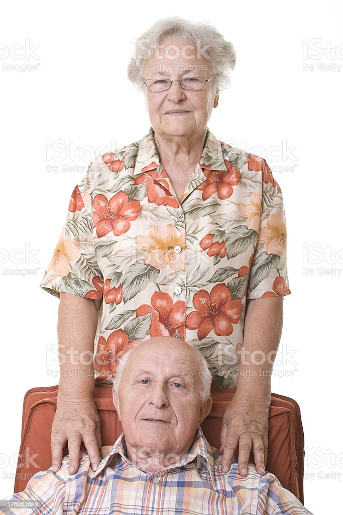 Tired grandparents royalty-free stock photo