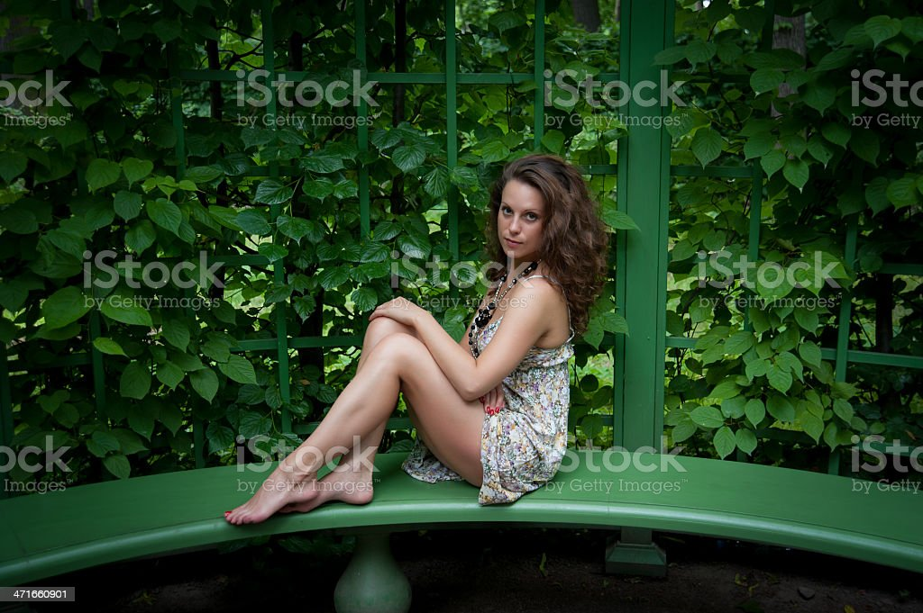 tired legs of a woman royalty-free stock photo