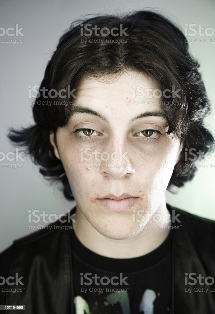 Tired looking man stock photo