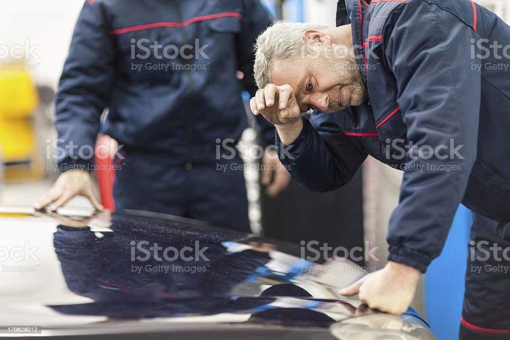 Tired mechanic royalty-free stock photo
