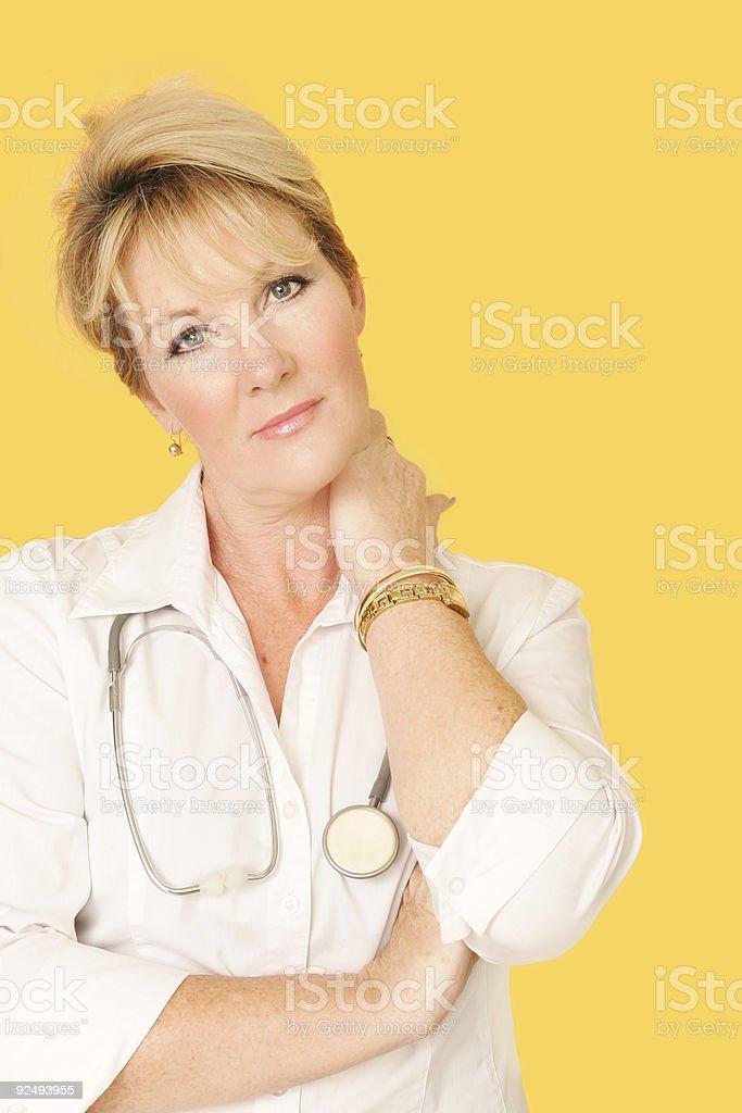 Tired Nurse stock photo