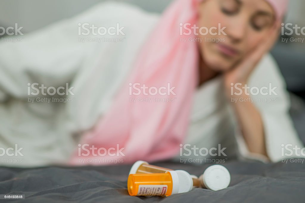Tired of Cancer stock photo