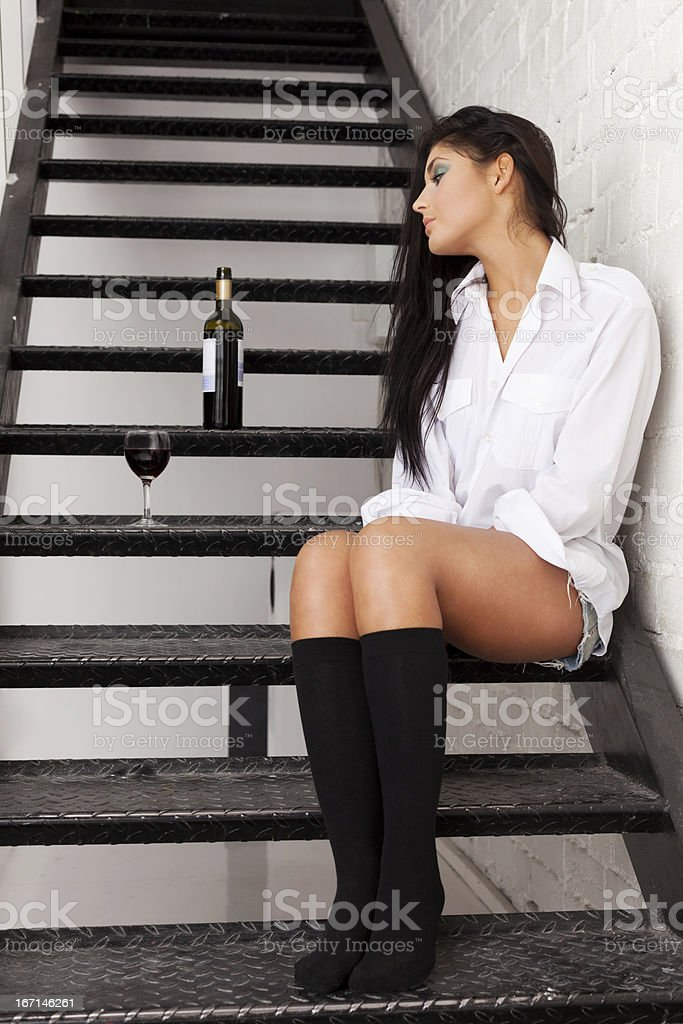 Tired of drinking royalty-free stock photo