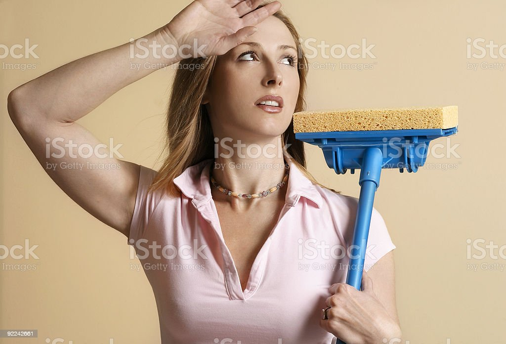 Tired of house work royalty-free stock photo