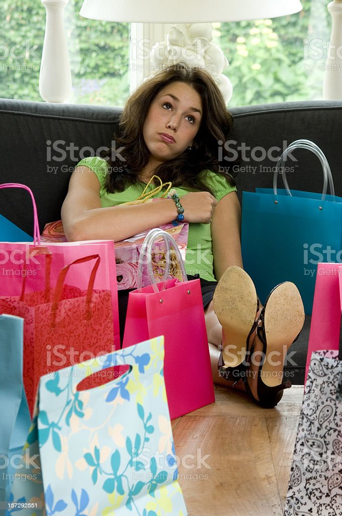 tired of shopping royalty-free stock photo