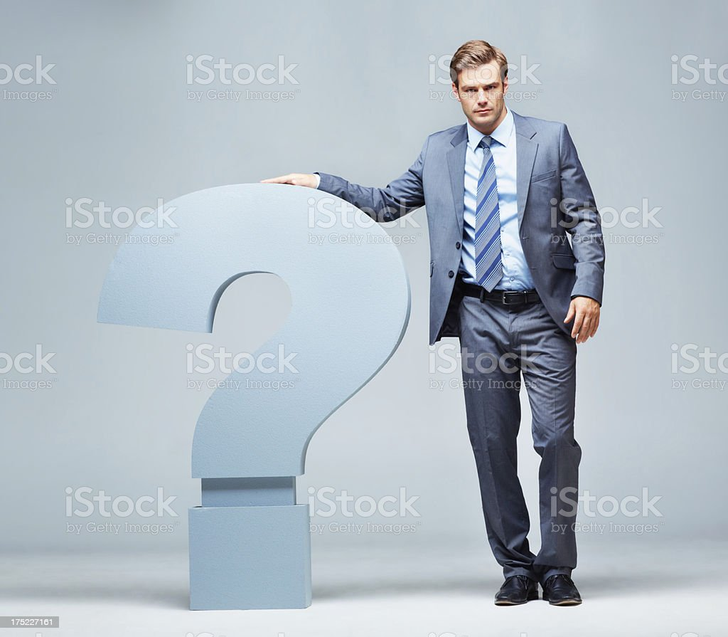 Tired of so many questions royalty-free stock photo