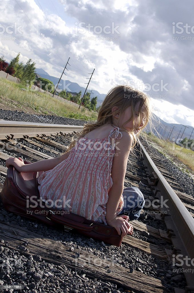 tired of waiting for the train royalty-free stock photo