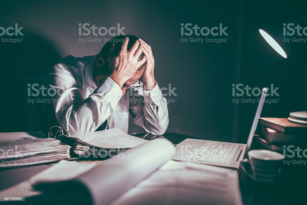 Tired of work stock photo