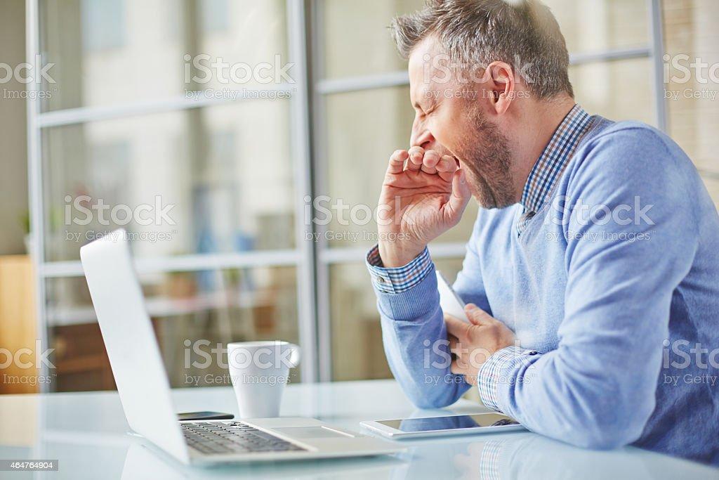 Tired or bored stock photo