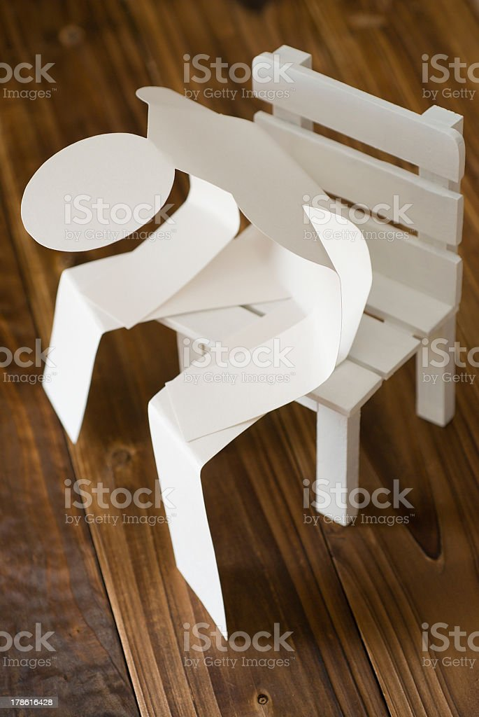 Tired Paper Man royalty-free stock photo