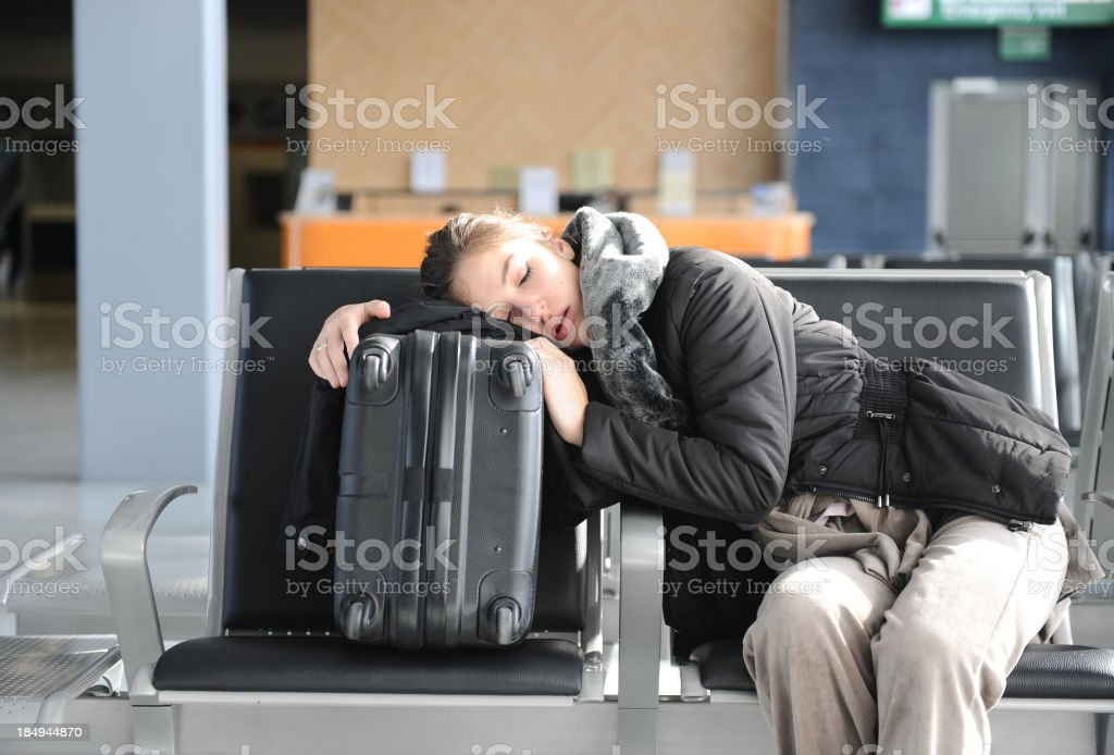 Tired passenger royalty-free stock photo