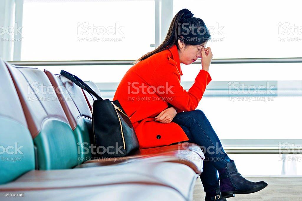 tired passenger stock photo